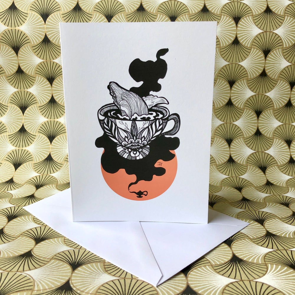 Image of Reading Tea Leaves Blank Greeting Card