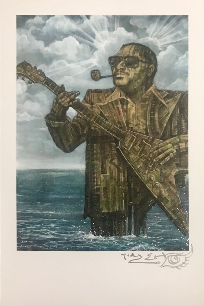 "Image of Tim Lehi ""Albert King Blues Monolith"" Signed Poster"