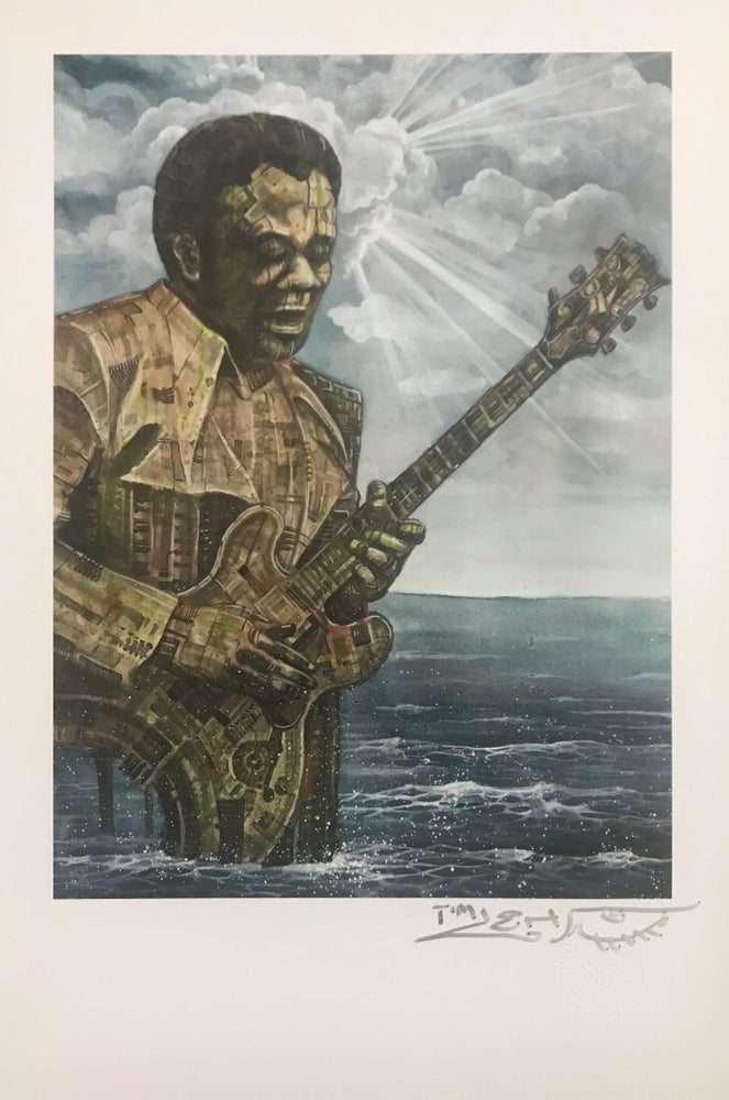"Image of Tim Lehi ""Freddy King"" signed poster"