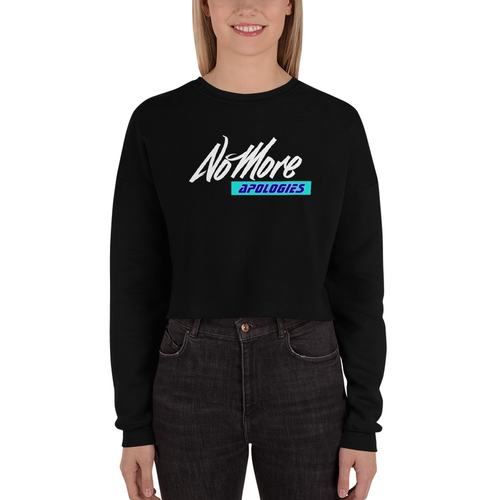 "Image of No More Apologies ""Woman's"" (Crop Top Hoodies & Sweatshirts)"