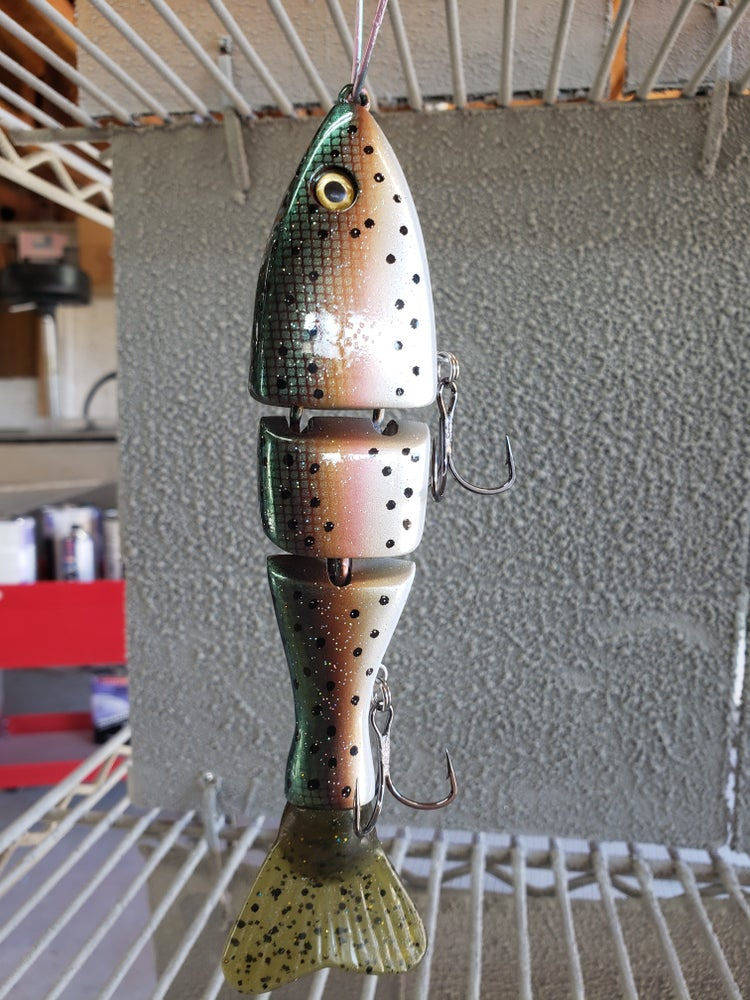 Image of 7 inch TT. Green Scaled Dark Trout.