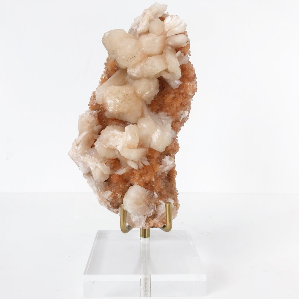 Image of Heulandite no.02 + Lucite and Brass Stand