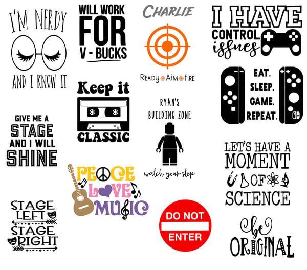 Image of Kids & Teens - Games & Hobbies Designs - 12x12 and 10x14 Wood Signs