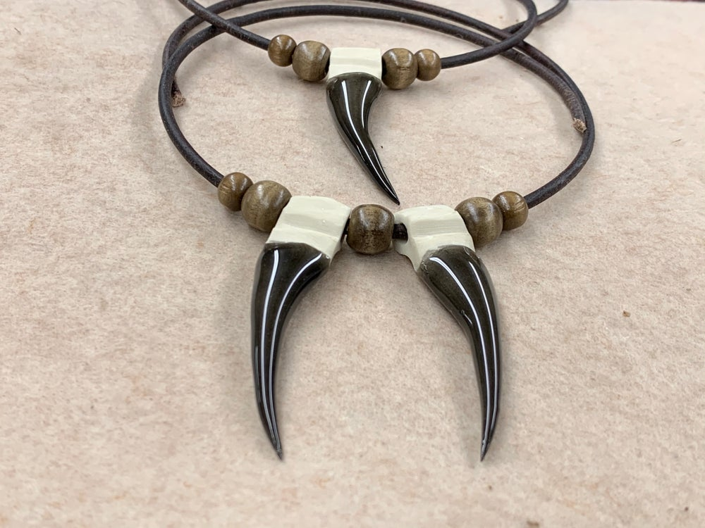"""Image of Replica 1 3/4"""" 2 Spur Necklace or Mirror Hang"""