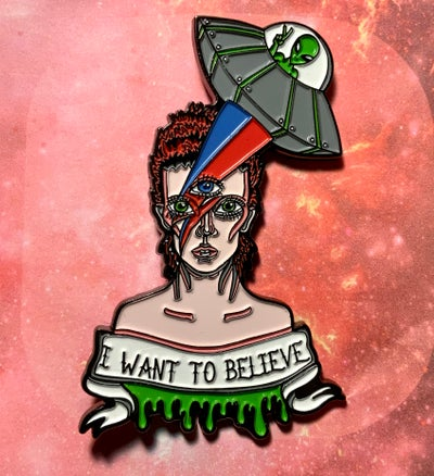 Image of Bowie In Space Enamel Pin