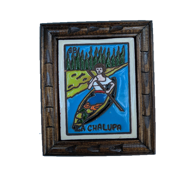 Image of La Chalupa Loteria Wooden Frame