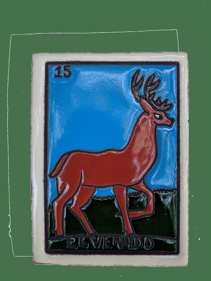 Image of El Venado Loteria Wooden Frame