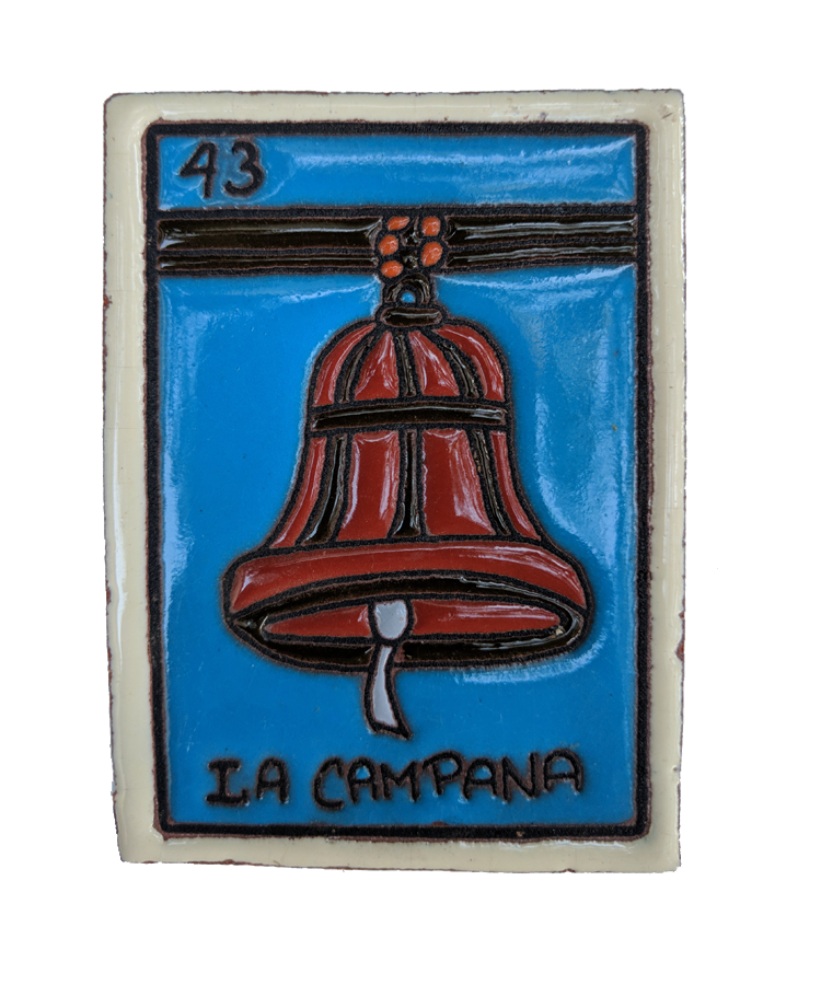 Image of La Campana Loteria Wooden Frame