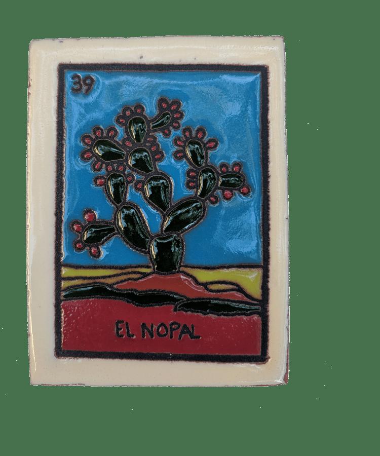 Image of El Nopal Loteria Wooden Frame