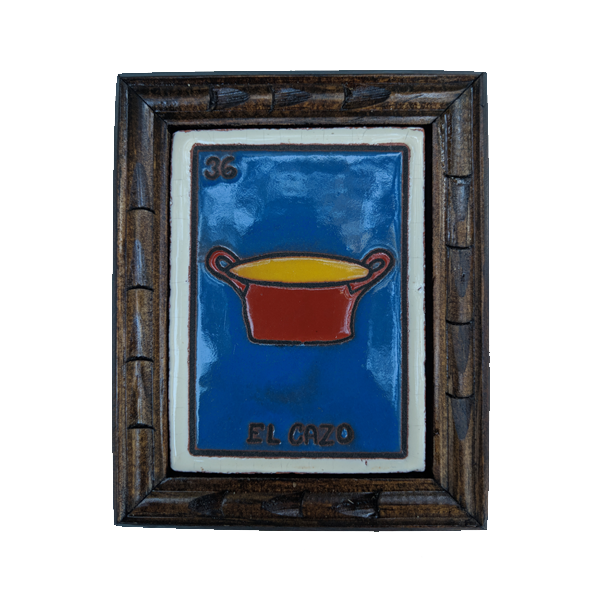 Image of El Gazo Loteria Wooden Frame
