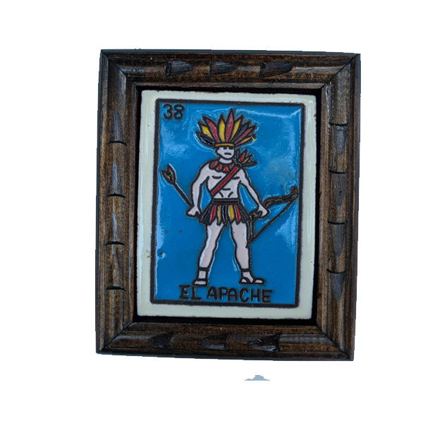 Image of El Apache Loteria Wooden Frame
