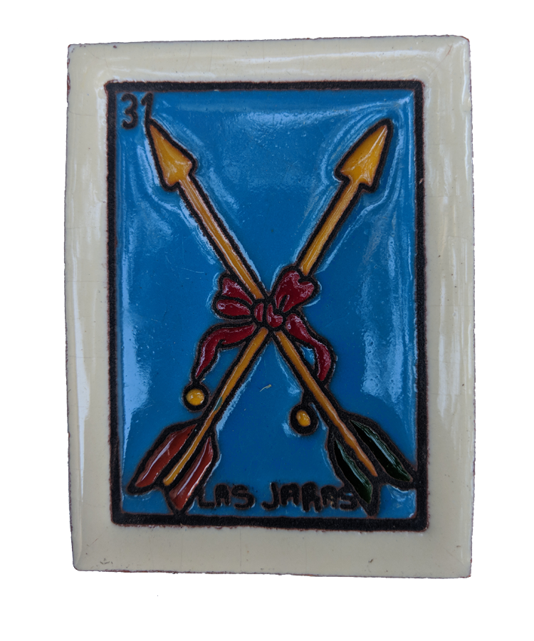Image of Las Jaras Loteria Wooden Frame