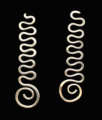 Image of Squiggle Earrings in Sterling Silver