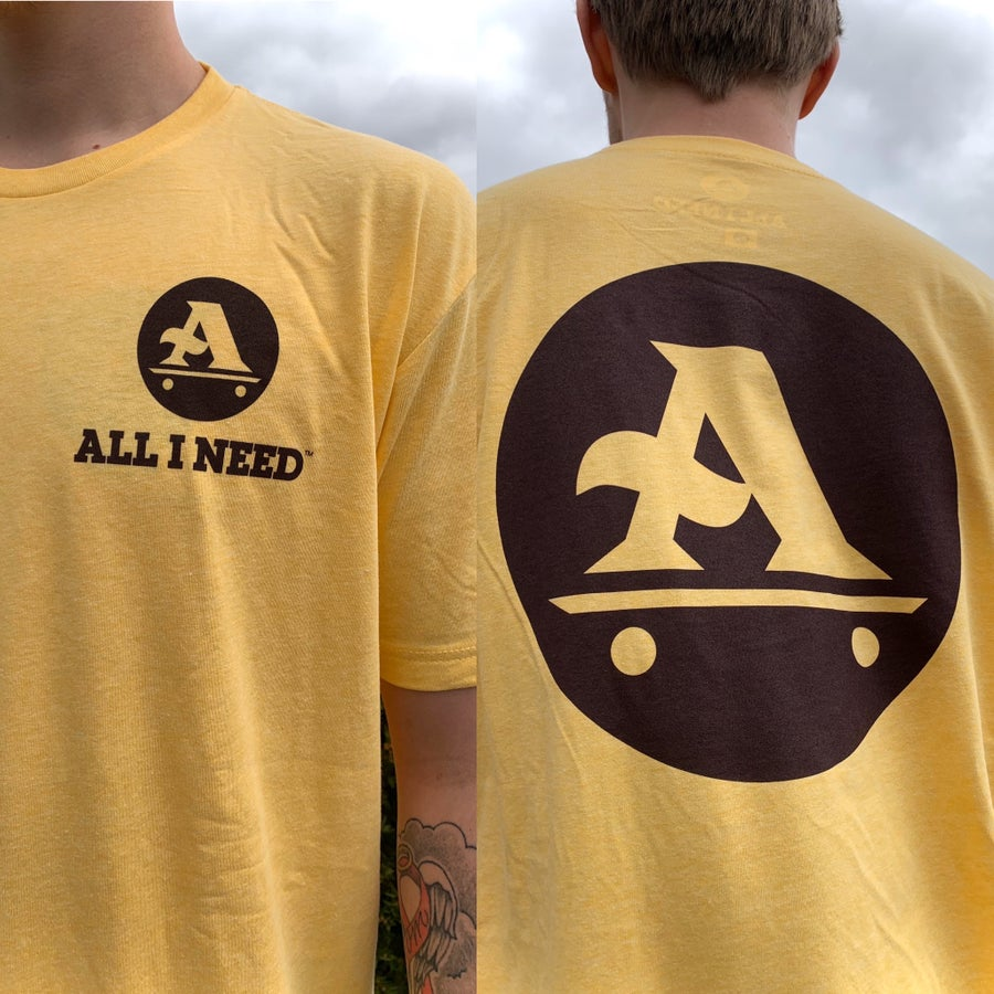 Image of A-Logo tee Banana Cream / Dark Chocolate