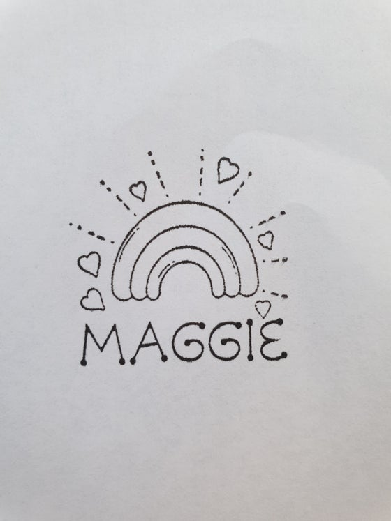 Image of Custom Rainbow Stamp