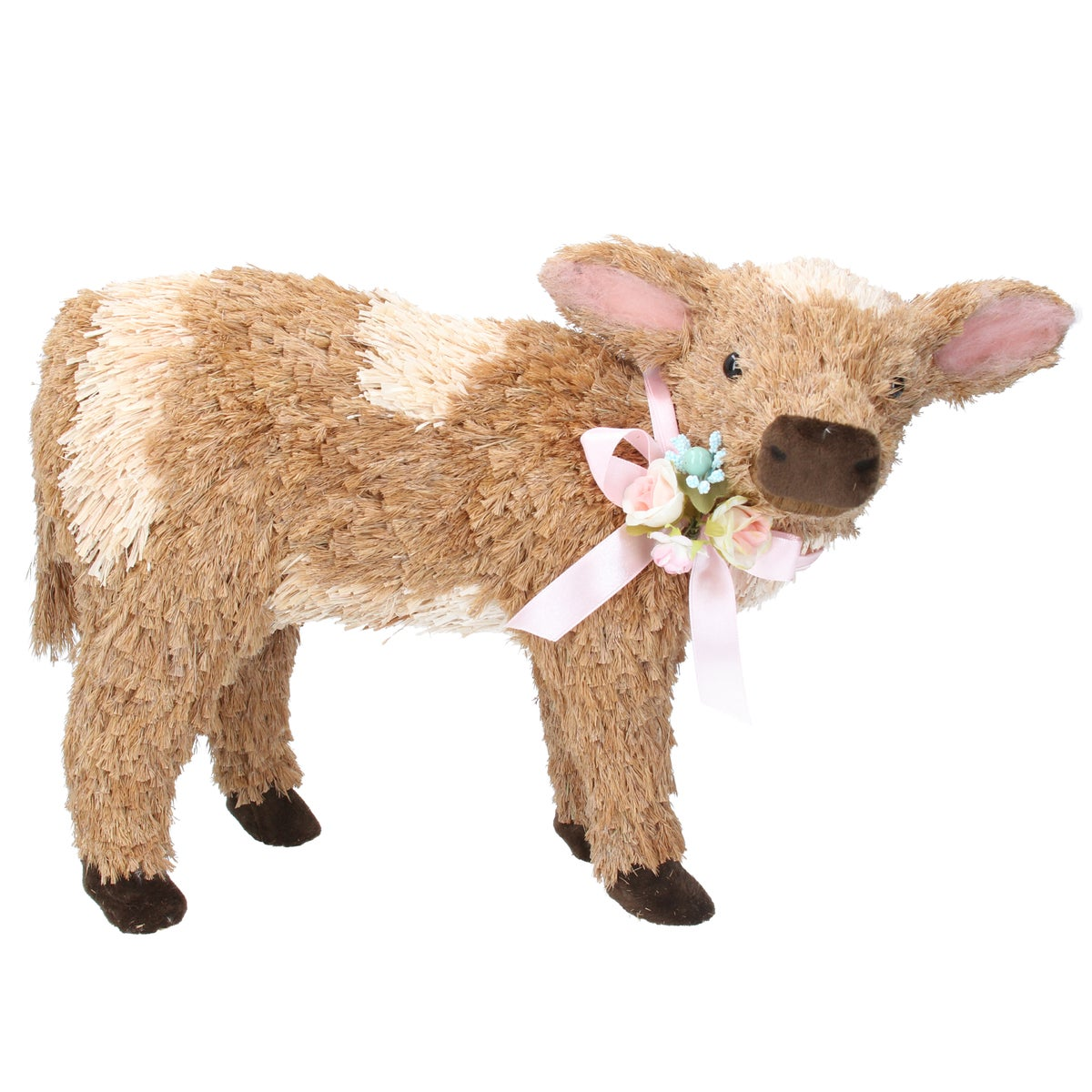 Image of Gisela Graham Bristle Calf with Flowers