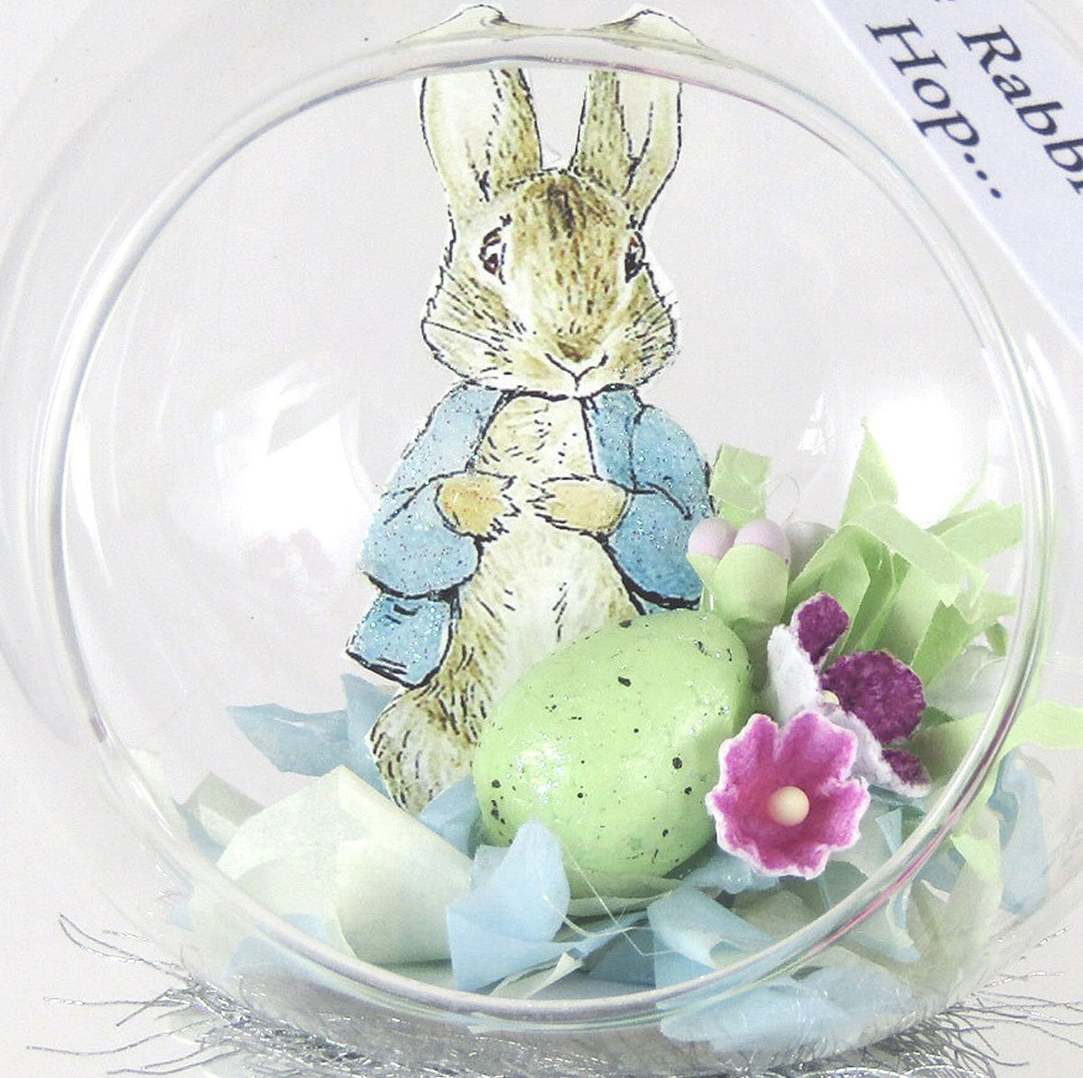 Image of Peter Rabbit Glass Bauble