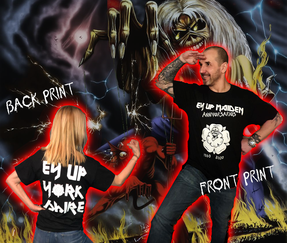 Image of Ey Up Maiden 2020 Tour T-Shirt