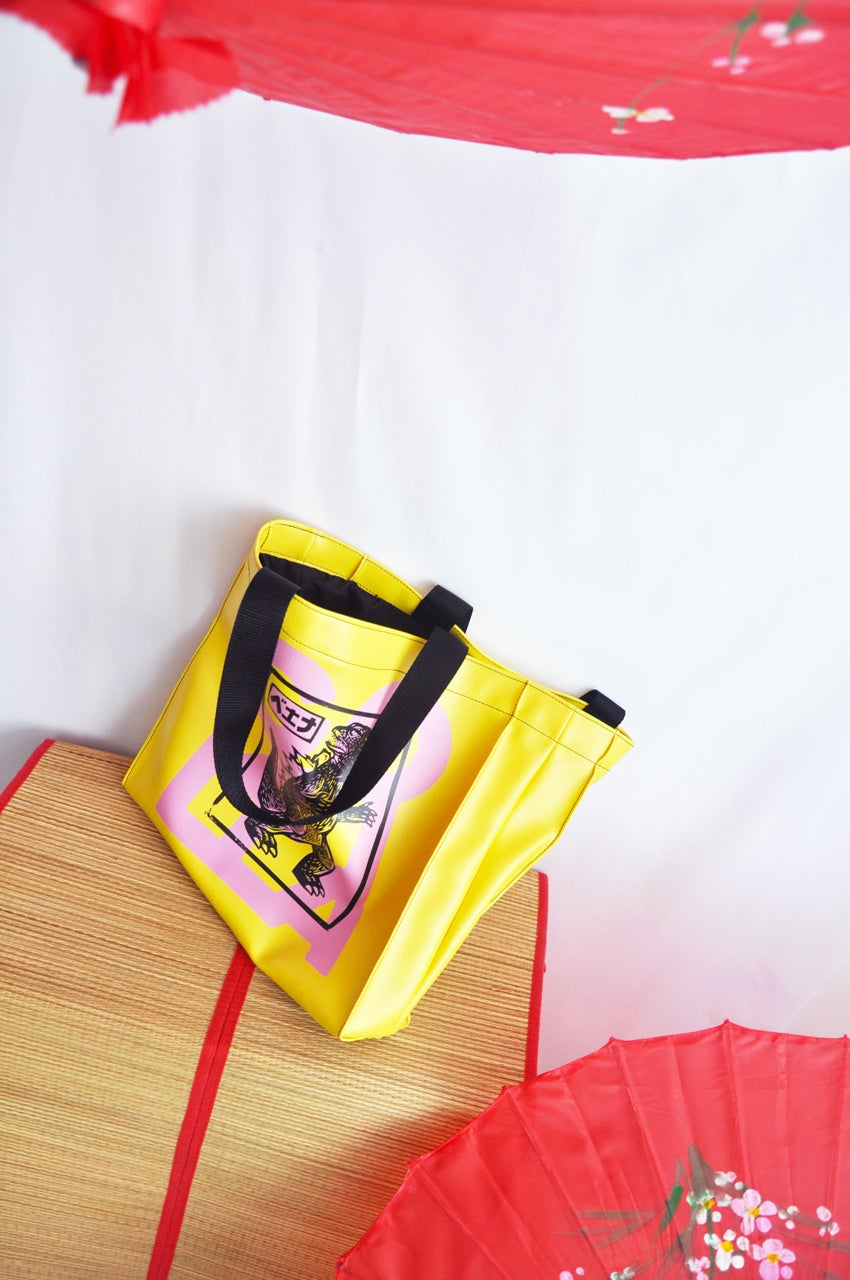 Image of TOTE GOZILLA  YELLOW