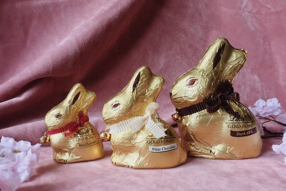 Image of Lindt Bunny Dark, Milk and White Chocolate