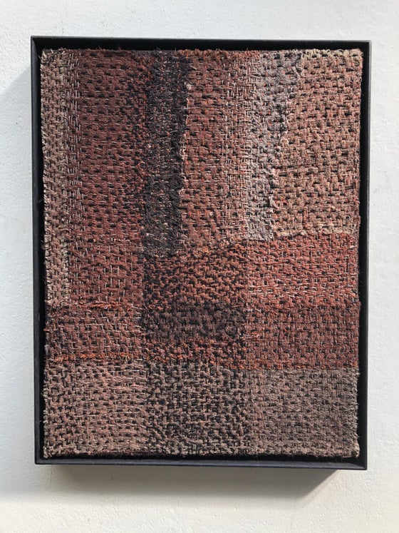 Image of small embroidered abstract panel