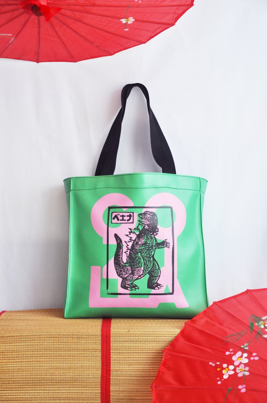 Image of TOTE GOZILLA GREEN