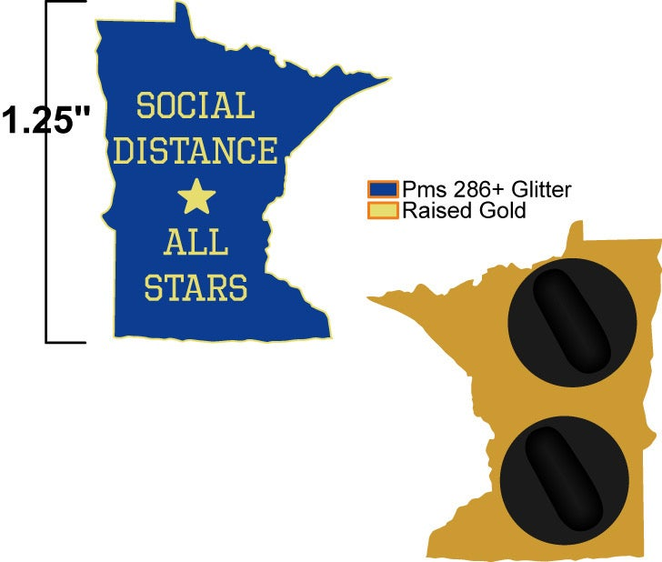 Image of MINNESOTA SOCIAL DISTANCING PINS (PREORDER SHIPS MID-LATE APRIL)