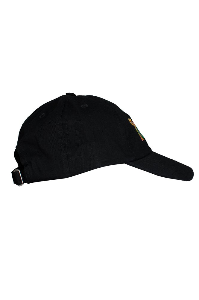 Image of FUCK THE WORLD embroidered cap - BLACK
