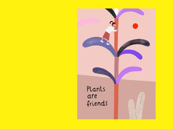 Image of POSTKARTE Plants are friends
