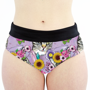 Flower Crown Tabbies High Waisted Cheeky Shorts