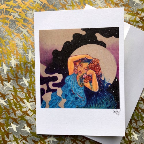 Image of The Sleeping Lady Blank Greeting Card