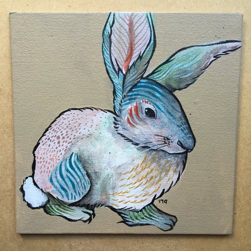 Image of Rabbit Study Paintings