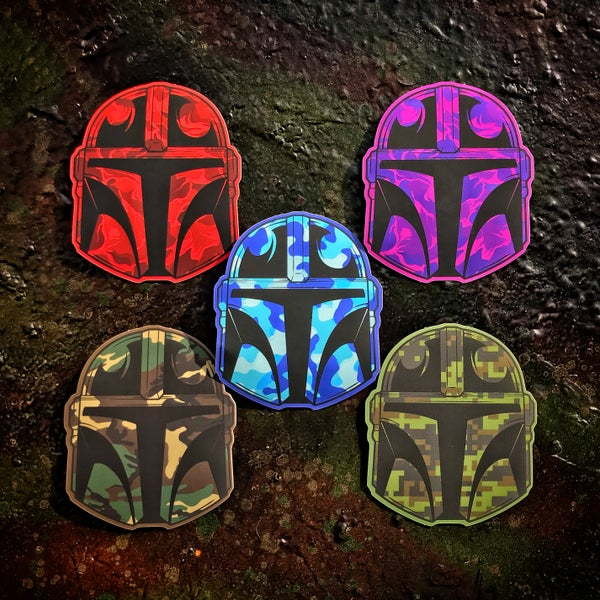 Image of Camo Mando sticker pack