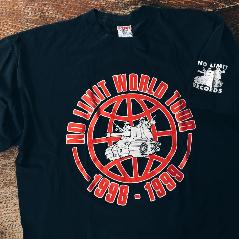 Image of Original 98'/99' No Limit Records World Tour Rap Tee.