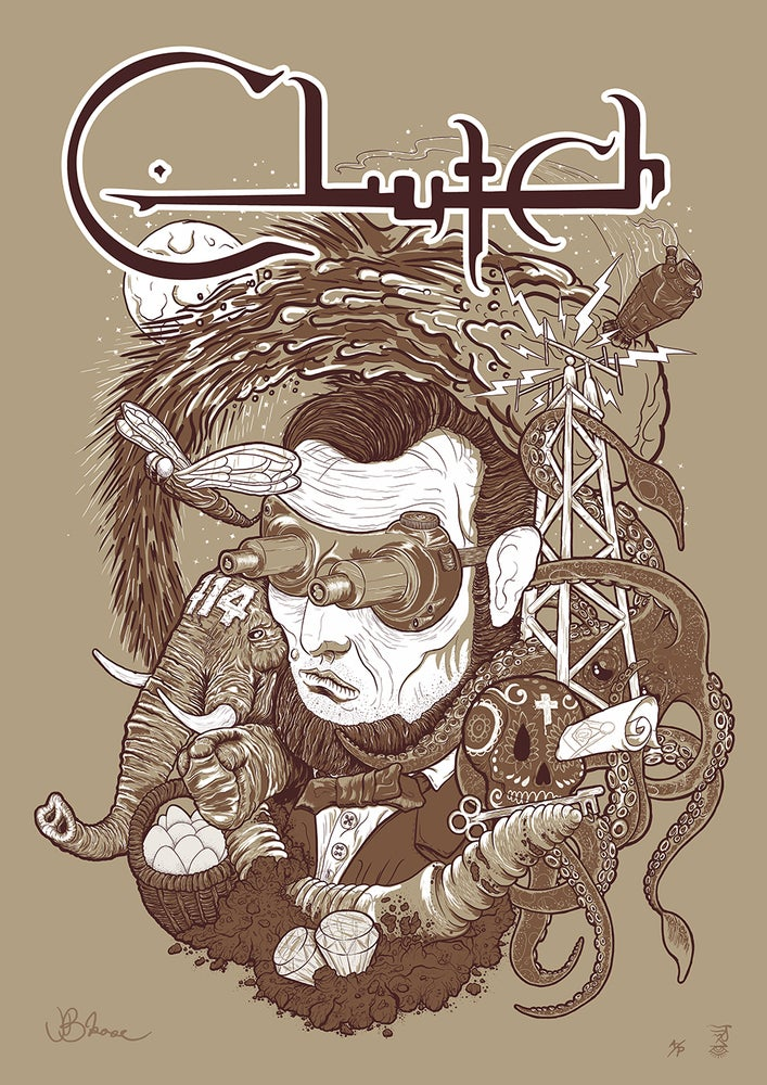 Image of Clutch 'Hidden Treasure' limited giclee poster A/P EDITION