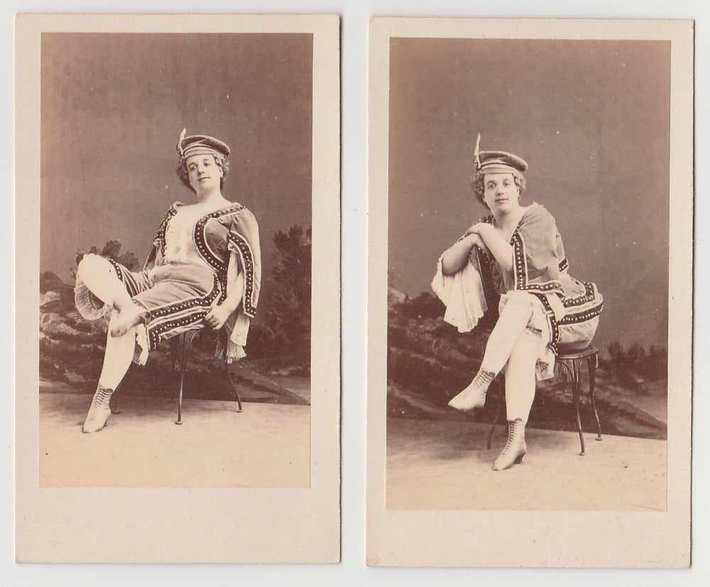 Image of Disdéri: portraits of Mme Désirée Larue, dite 'Lovely', ca. 1864