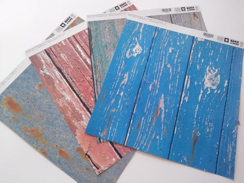 Image of Scrapbooking decorative paper Vintage wood collection