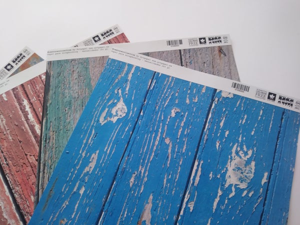 Image of Decorative paper Scrapbooking Vintage wood collection