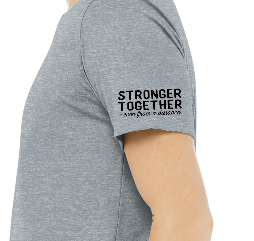 "Blk Ankr ""Stronger Together"" Tee - Gray"