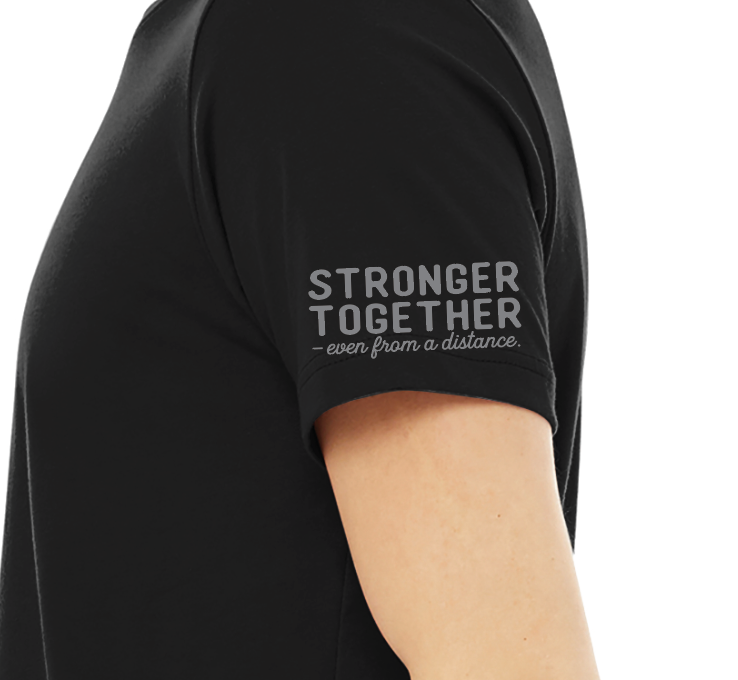 "Blk Ankr ""Stronger Together"" Tee - Black"