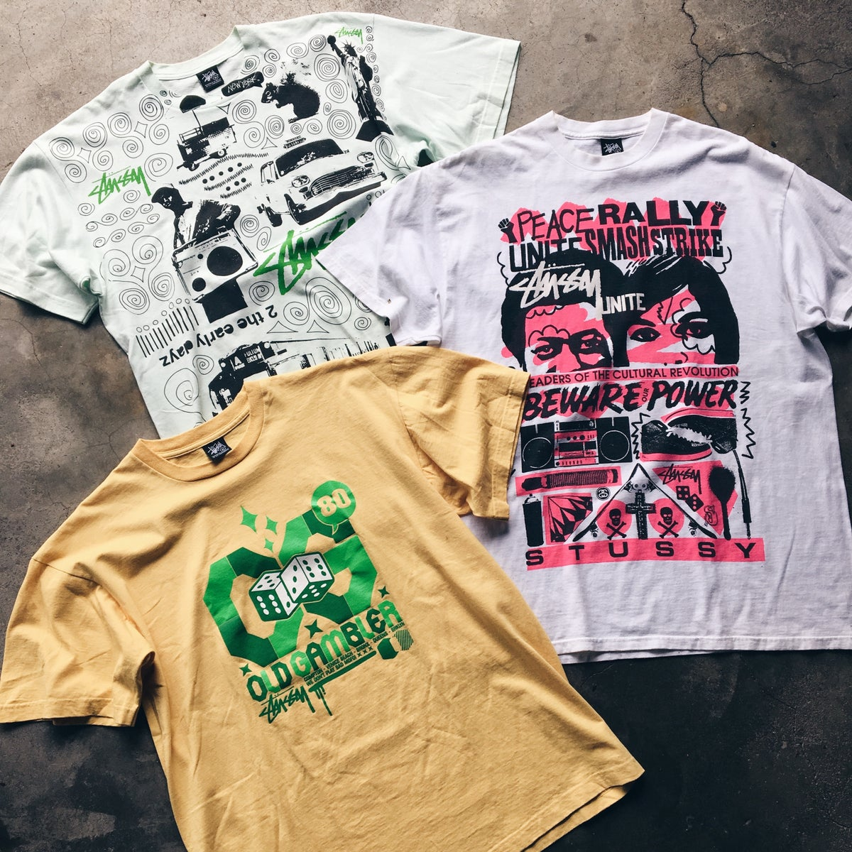 Image of Brand New Old Stock Mid 2000's Stussy Tees.