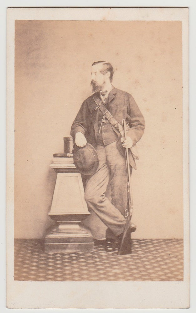 Image of Anonymous: portrait of a hunter, ca. 1865