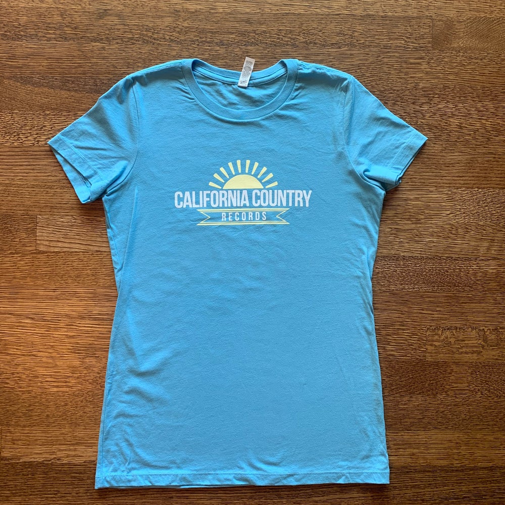 Image of California Country Records Women's Tee - Baby Blue