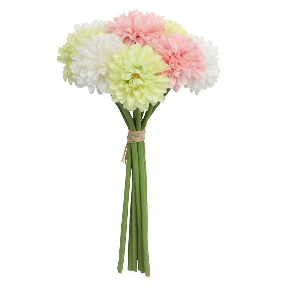 Image of Gisela Graham Mini Chrysanthemum Pastel bouquet