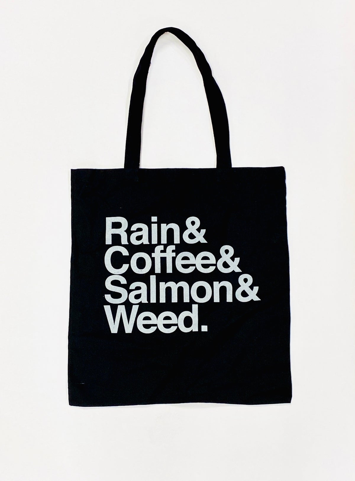Rain&Coffee&Salmon&Weed Tote Bag