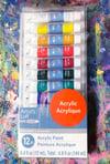 Acrylic Paints - 12 Color Set