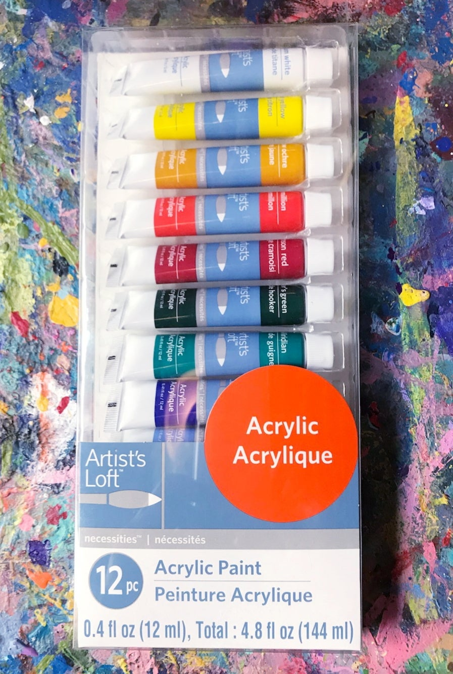 Image of Acrylic Paints - 12 Color Set