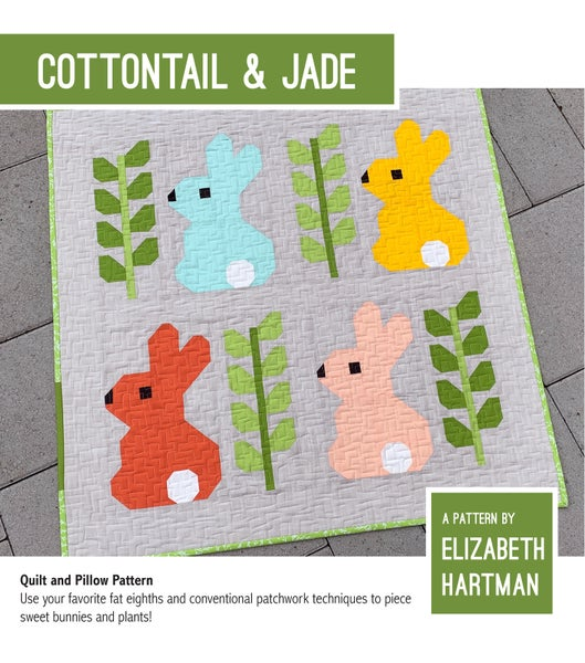 Image of COTTONTAIL & JADE pdf quilt and pillow pattern
