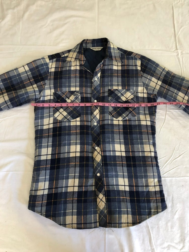 Image of Blue Plaid with Quilted Lining