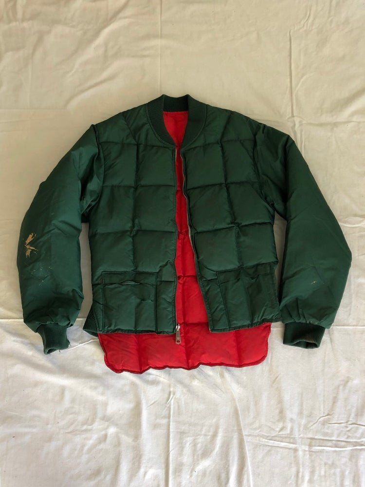 Image of REVERSIBLE Red/Green Puffy Jacket